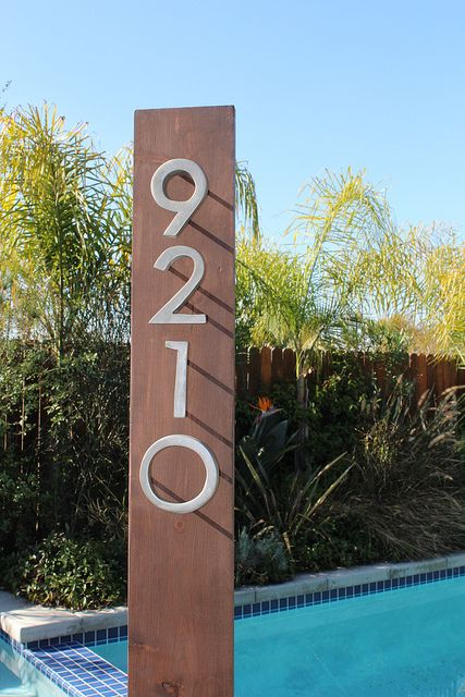 How To Make Your Own MidCentury Modern House Numbers Country