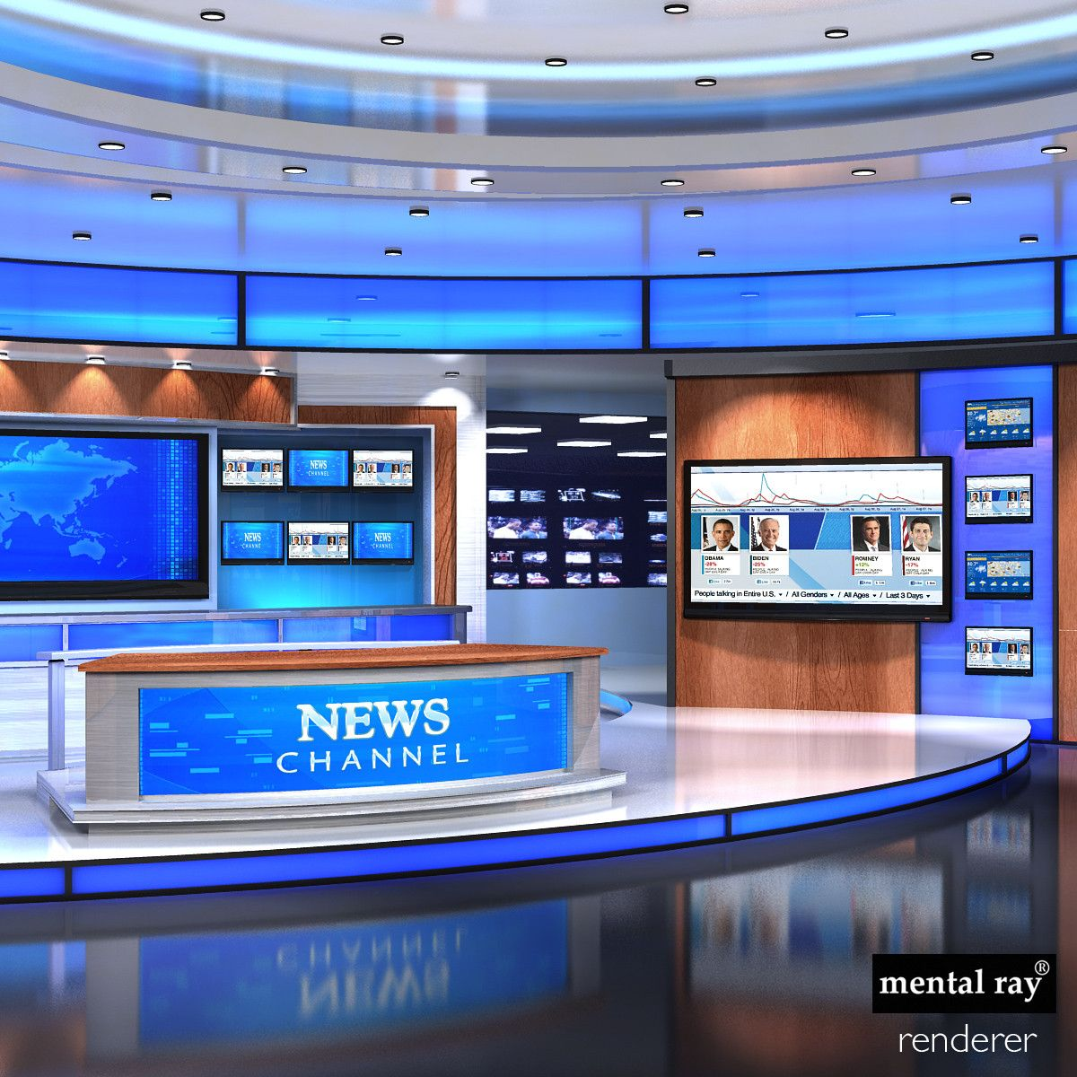 3ds max news studios collections News studio, Studio