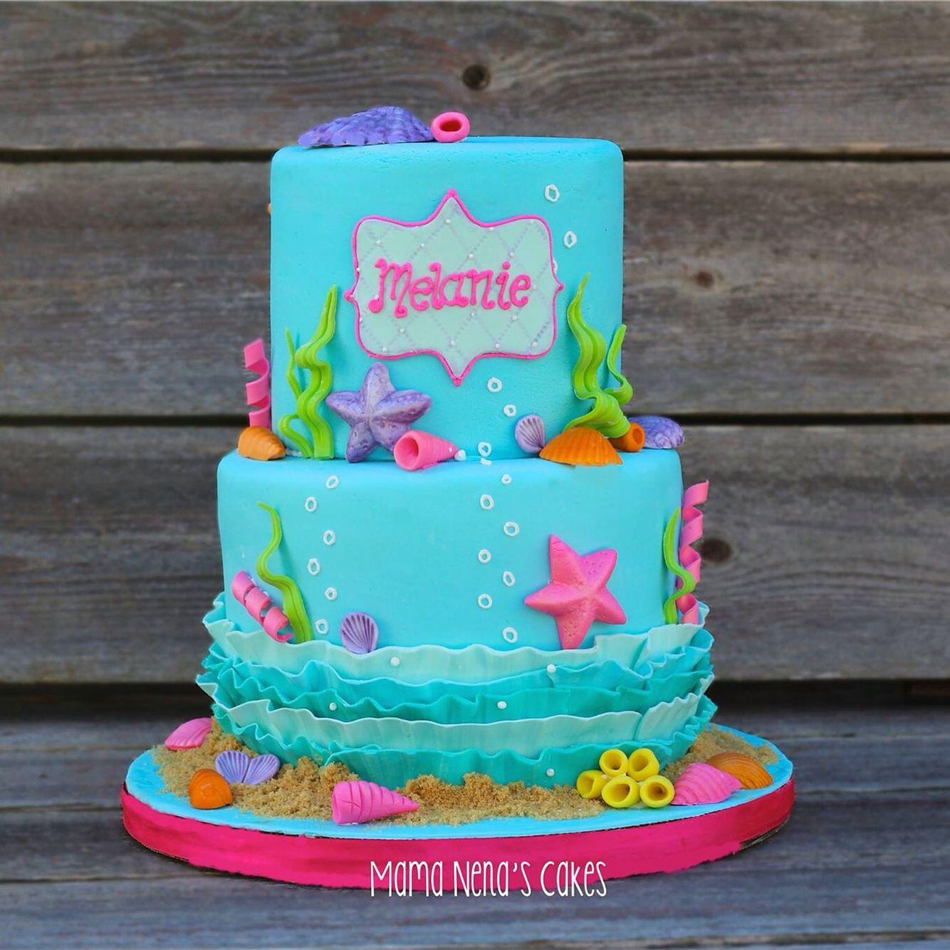 Uncategorized Little Mermaid Birthday Cake the little mermaid cake under sea kids birthday cakes