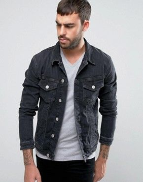 f476c83b1db541 Image result for black denim jacket men | New picks in 2019 | Denim ...