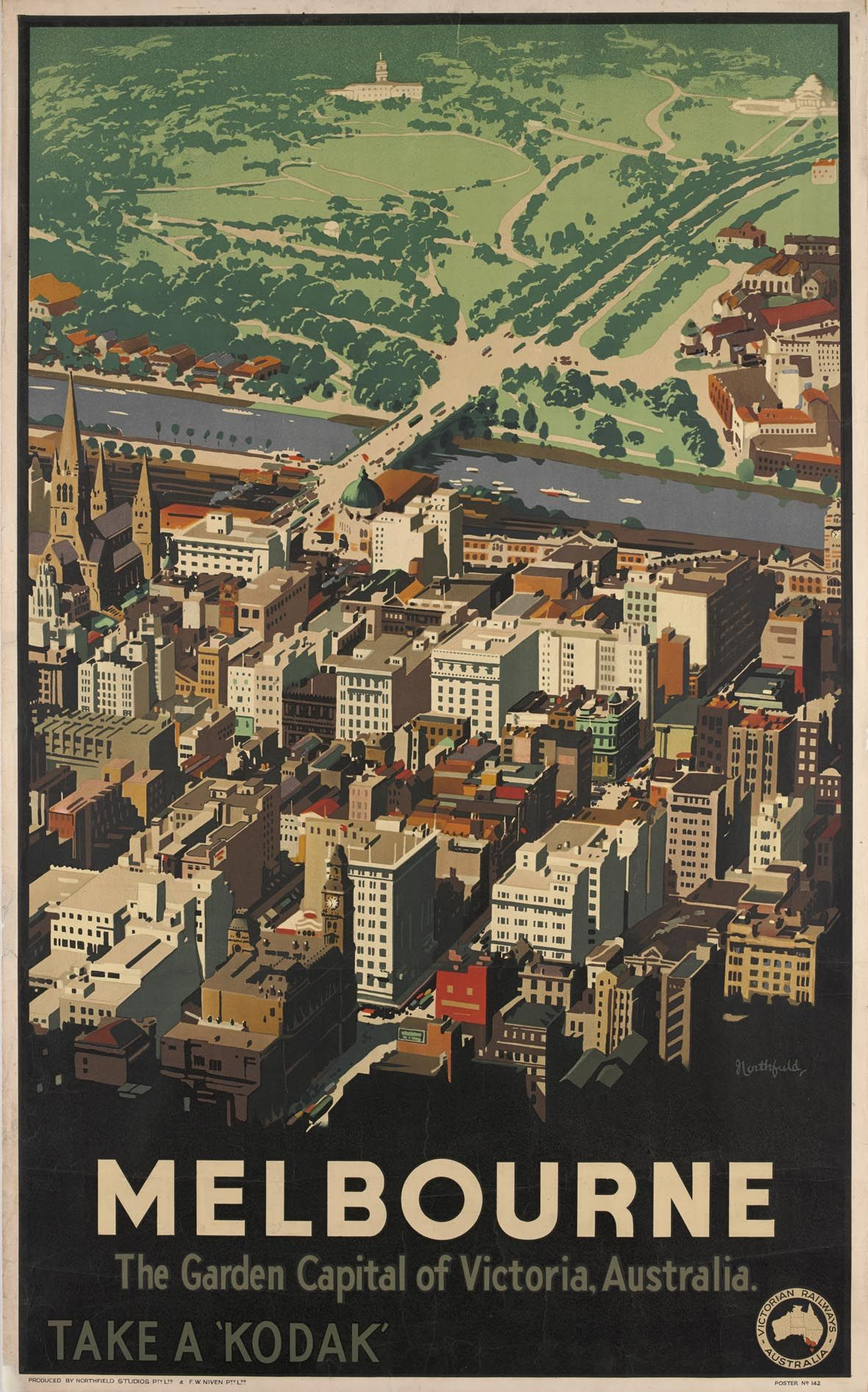 Melbourne, \'Take a Kodak\': the travel posters of James Northfield ...