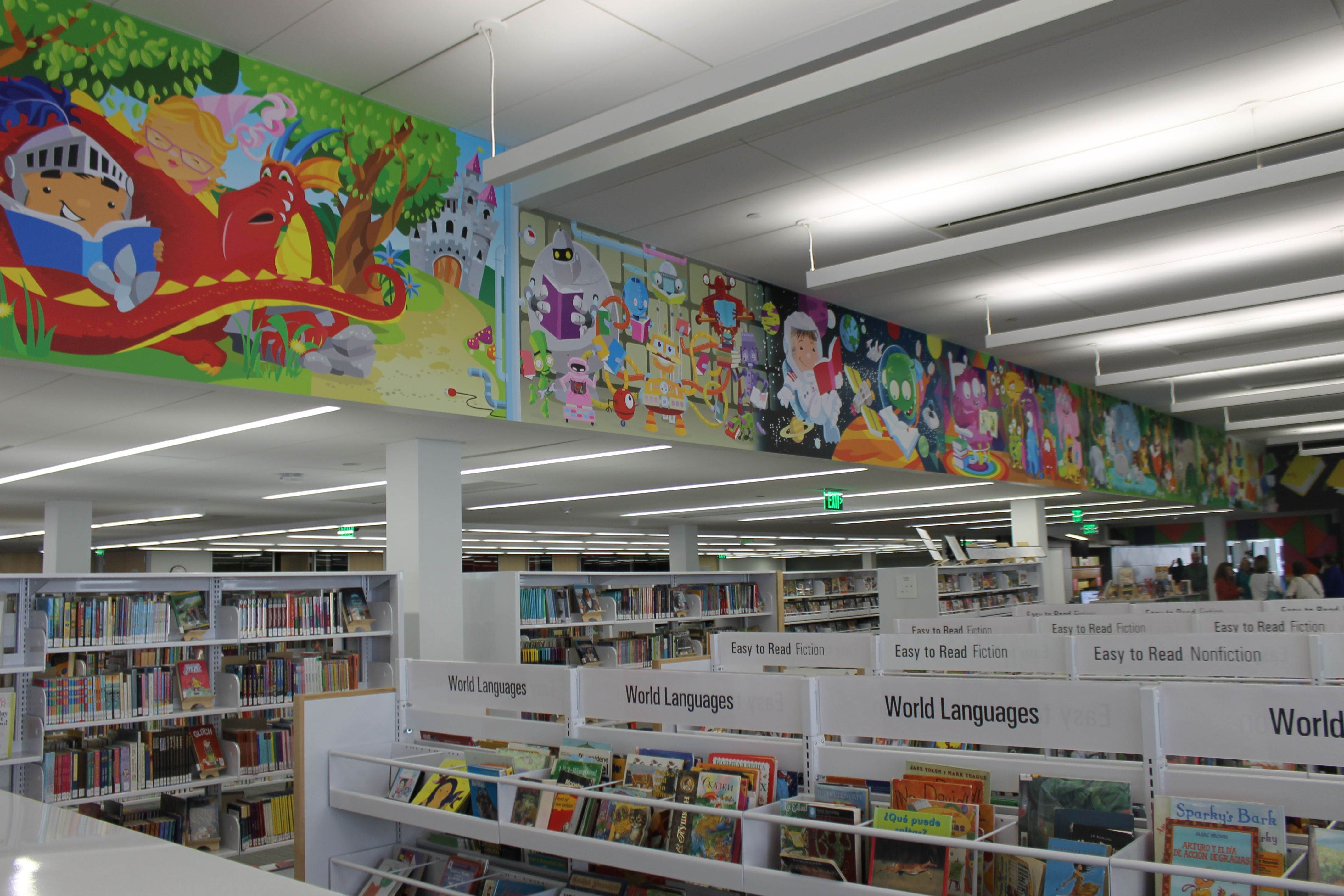 The Newest Addition To Ames Public Library Is A 90 Foot Mural In The Children S Section That Includes Scenes Of Monster Local Entertainment Tribune Outer Space