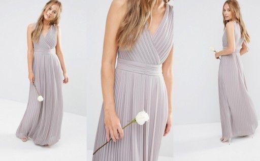 B5h202 Tfnc Szara Plisowana Sukienka Wesele 38 M 7056063869 Oficjalne Archiwum Allegro Dresses Fashion Formal Dresses