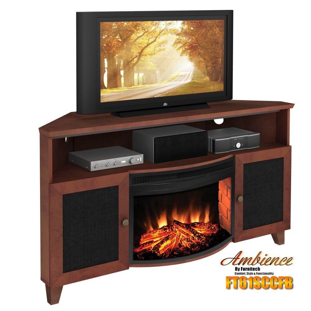 Corner Elec Fireplaces 61 Corner Shaker Style Tv Corner Console