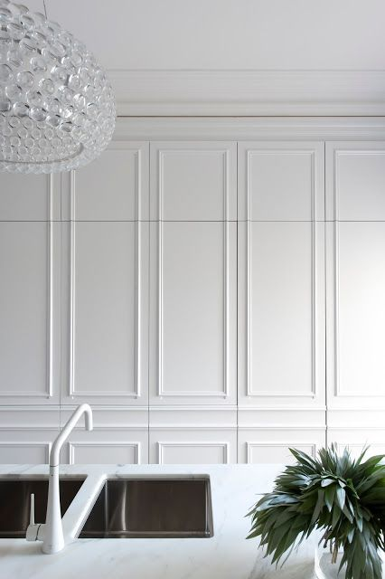 Parisian Styled Wall Panelling Painted Brilliant White And