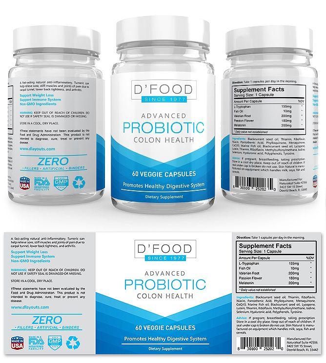 Probiotic Supplement Label Template Creative Brochure Templates - product label template