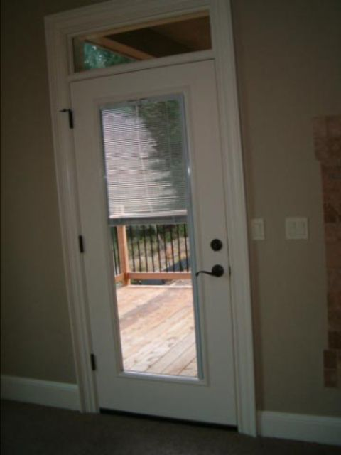 Entry Door With Between The Glass Blinds Exteriors Pinterest