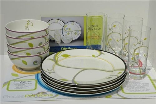 Portion control dishes......pretty and just what we need for after the holiday.