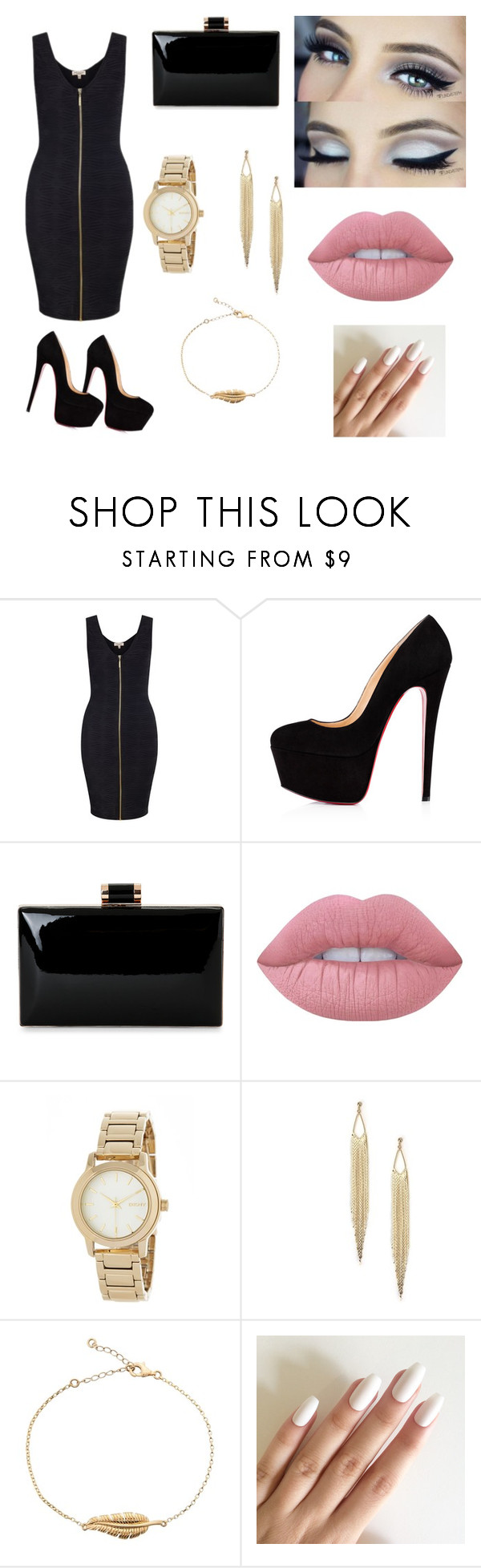 """""""Untitled #158"""" by rebeccaball37 on Polyvore featuring Lipsy, Lime Crime and DKNY"""