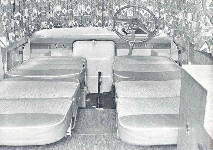 interior of the dormobile 1