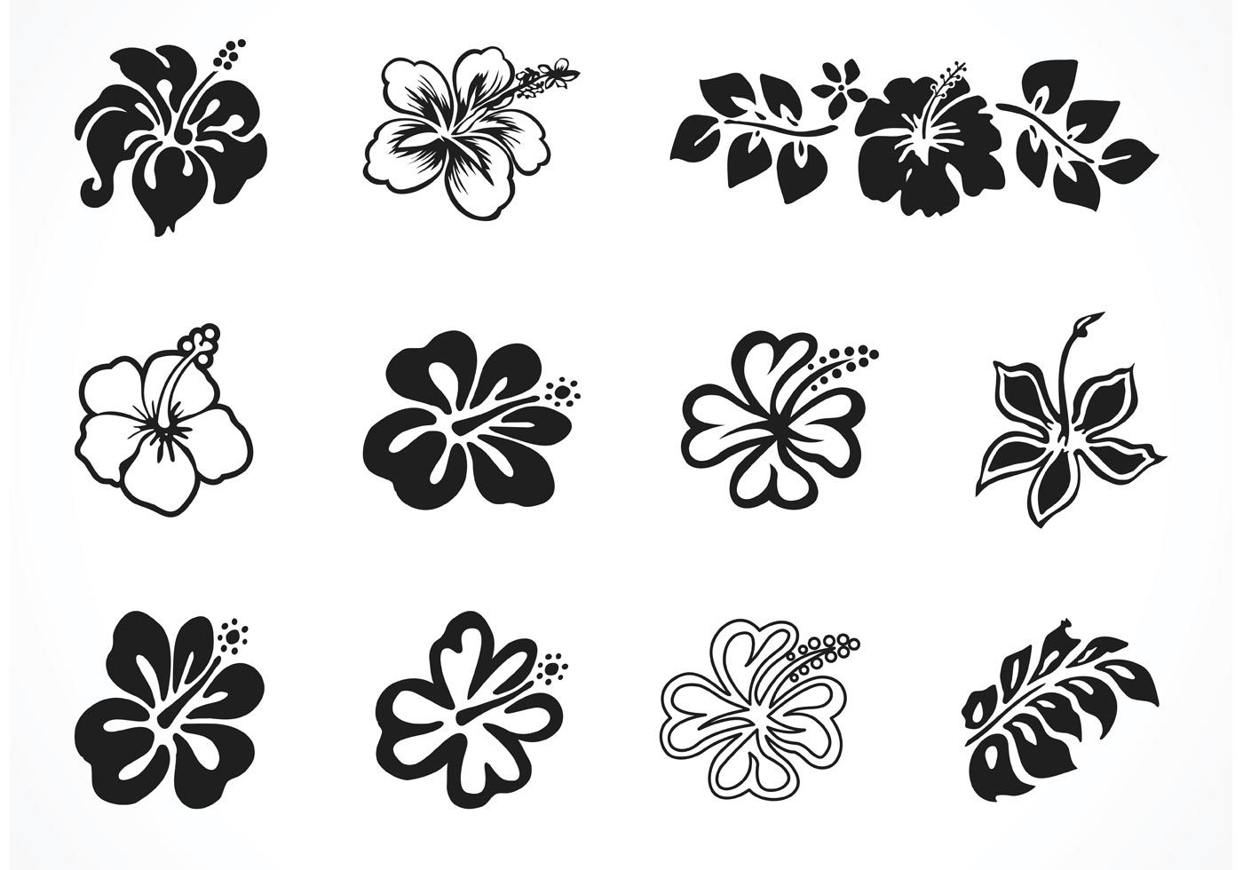 Vector Hibiscus Silhouettes Choose From Thousands Of Free Vectors Clip Art Designs Icons And Illustrations Cr Vector Art Design Vector Free Hibiscus Tattoo