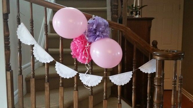 Tea party birthday decorations