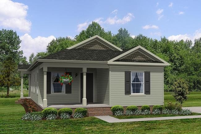 Marvelous This Small Ranch House Plan Features Three Bedrooms And Two Full Baths.  Cute Elevation With