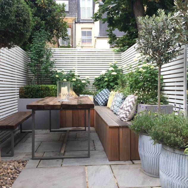 55 Small Urban Garden Design Ideas And Pictures: Subtle Garden Fencing - Google Search