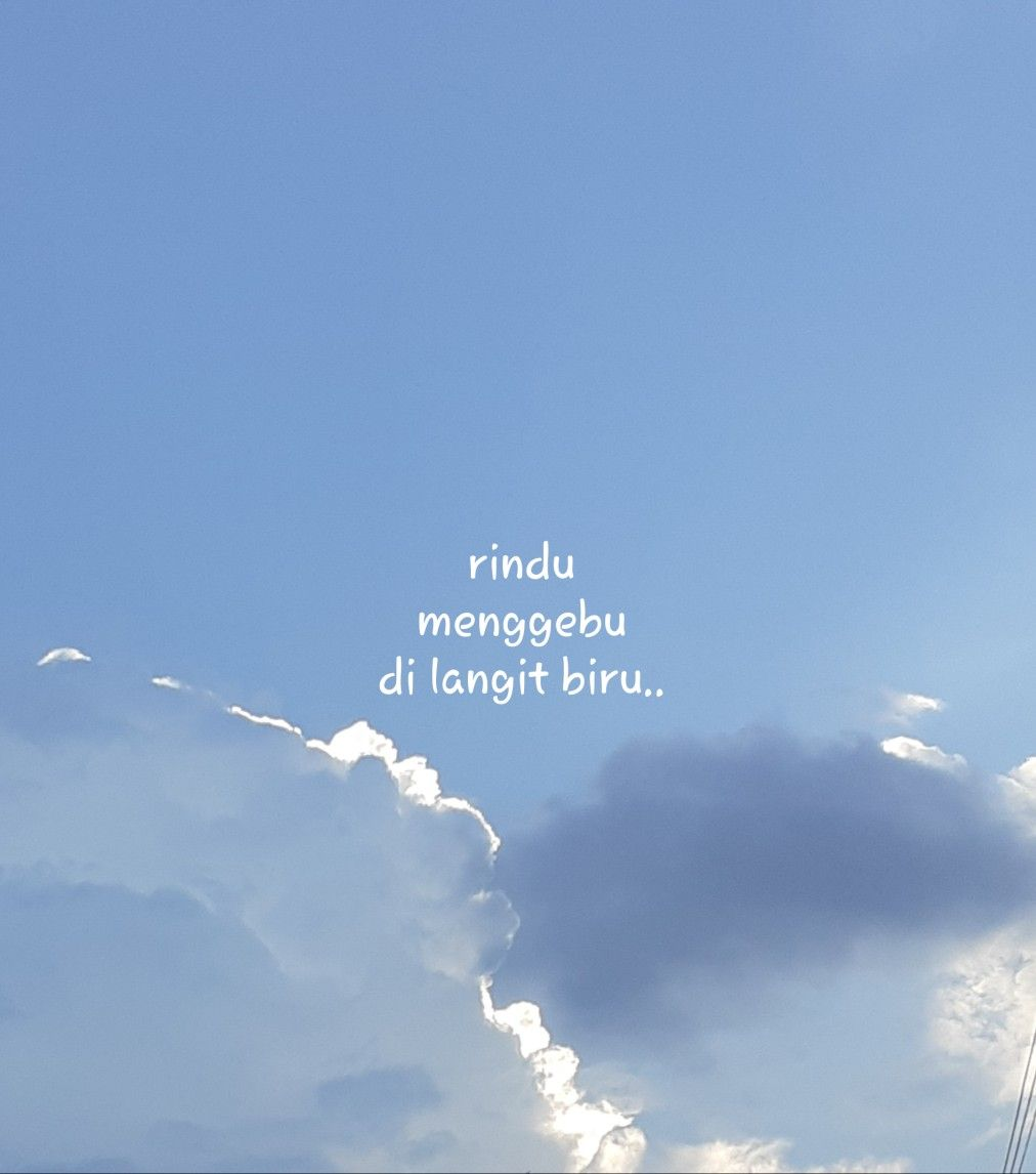 Rindu Langit Biru Langit Gambar Simpel