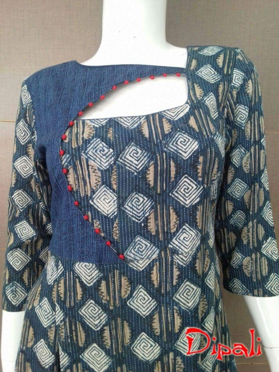 Pin by ramya muthyala on borders pinterest kurti neck designs