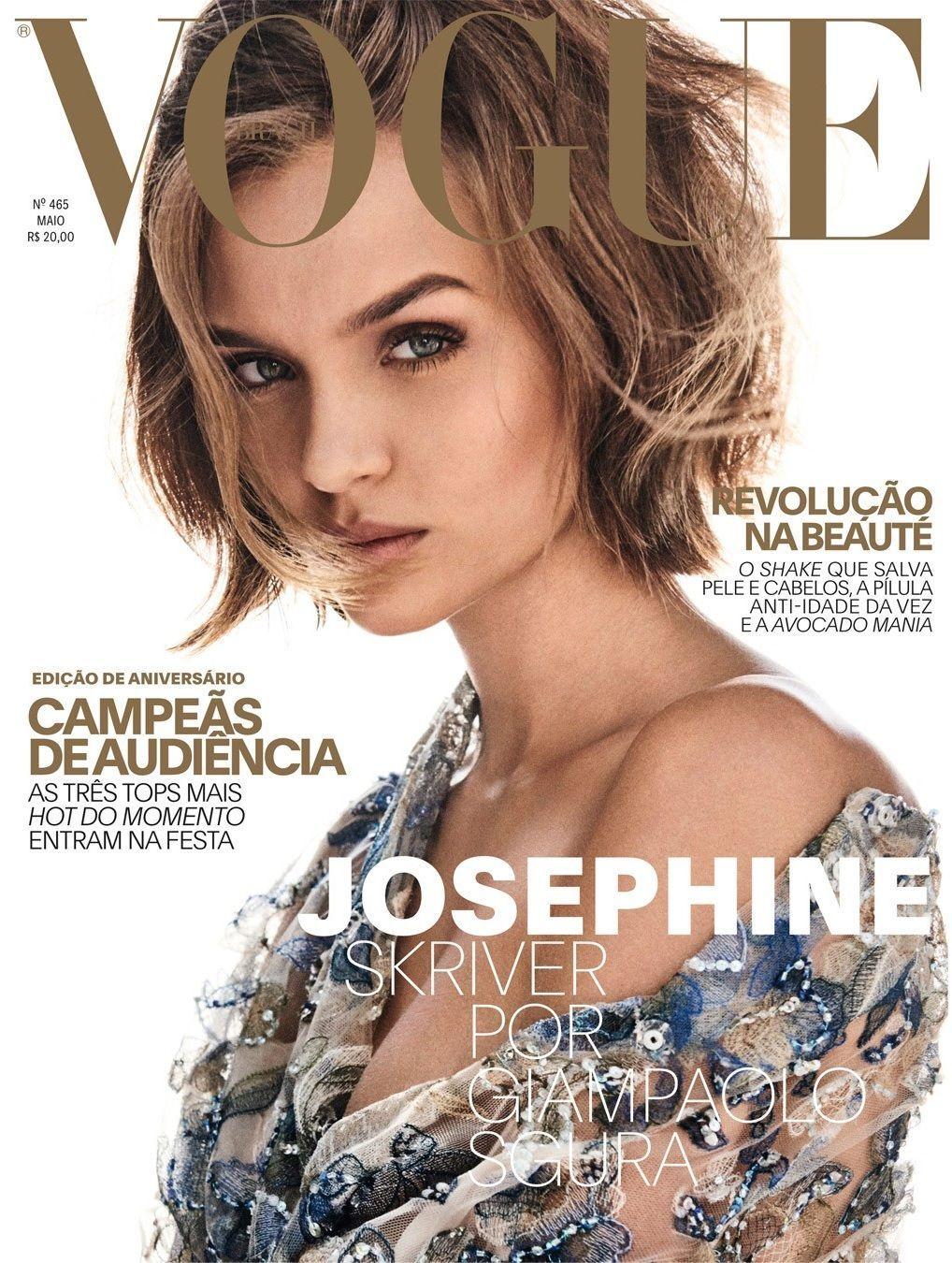 3546e5cd122c2 Josephine Skriver - Vogue Magazine Cover  Brazil  (May 2017)   Vogue ...