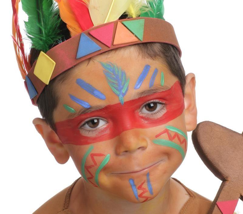 Grimtout Maquillage à Leau Le Sioux étape 1 Maquillage Enfant