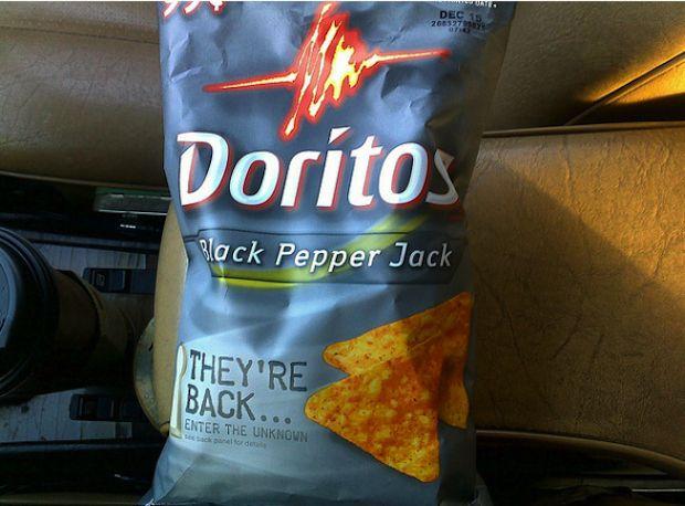 doritos black pepper jack tortilla chips