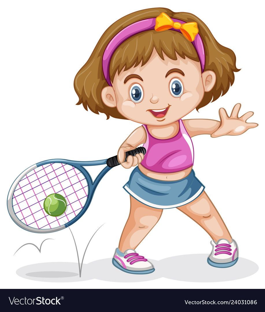 A Female Tennis Player Illustration Download A Free Preview Or High Quality Adobe Illustrator Ai Eps Pdf A Tennis Players Female Tennis Players Illustration