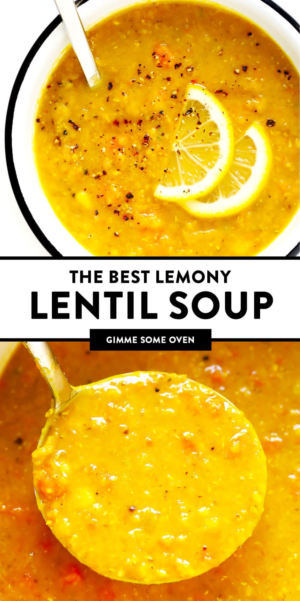 Photo of Lemony Lentil Soup | Gimme Some Oven