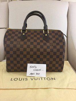 6a07b51a362c Louis Vuitton Damier Ebene Satchel.