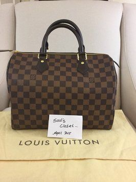 4cd6be1db5da Louis Vuitton Damier Ebene Satchel.