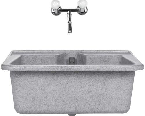 Waschbecken wega granitfarbig kaufen bei my for Kunststoff waschbecken