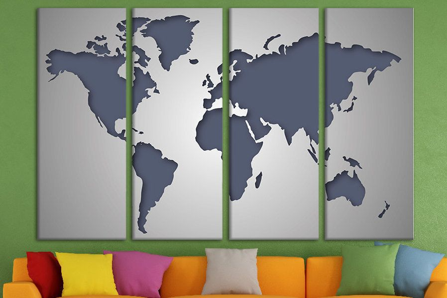 Canvas print wall art world map canvas world canvas large canvas art canvas print wall art world map canvas world canvas large canvas art wood world map framed world map canvas print photo split canvas gumiabroncs Choice Image