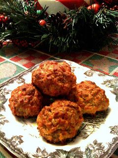 Sweet Tea and Cornbread: 3 Cheese Sausage Balls!   We make these all the time and I can't wait to add the cream cheese and try it that way.