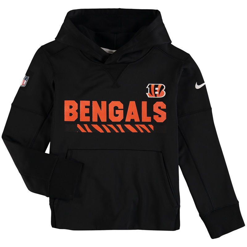 size 40 5f6ac ee7e0 Cincinnati Bengals Nike Youth Performance Pullover Hoodie ...