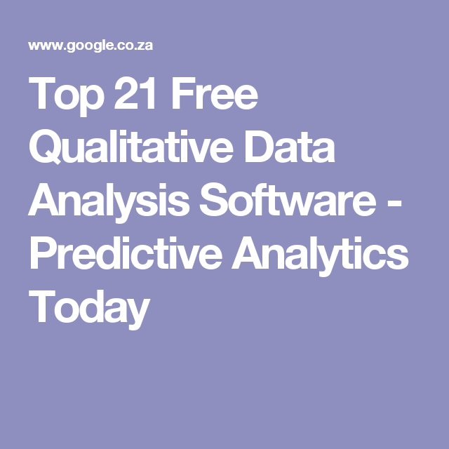 Top  Free Qualitative Data Analysis Software  Predictive