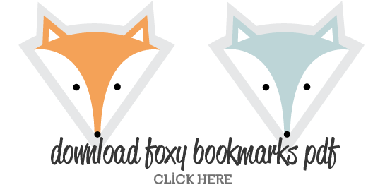 Click on the image to download this foxy bookmark template - a great ...