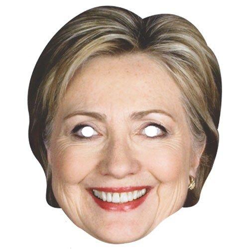 Hillary Clinton Pap Ansigtsmaske Single USA Valg Amerikansk