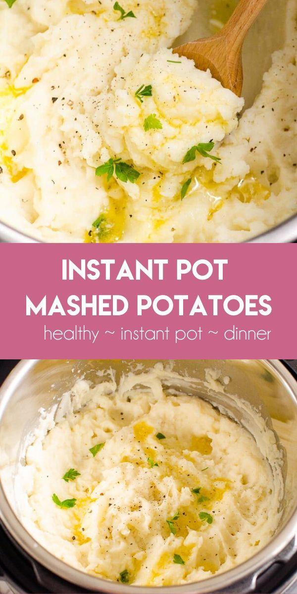 Instant Pot Mashed Potatoes (Video) - iFOODreal - Healthy Family Recipes #instantpotmashedpotatoes