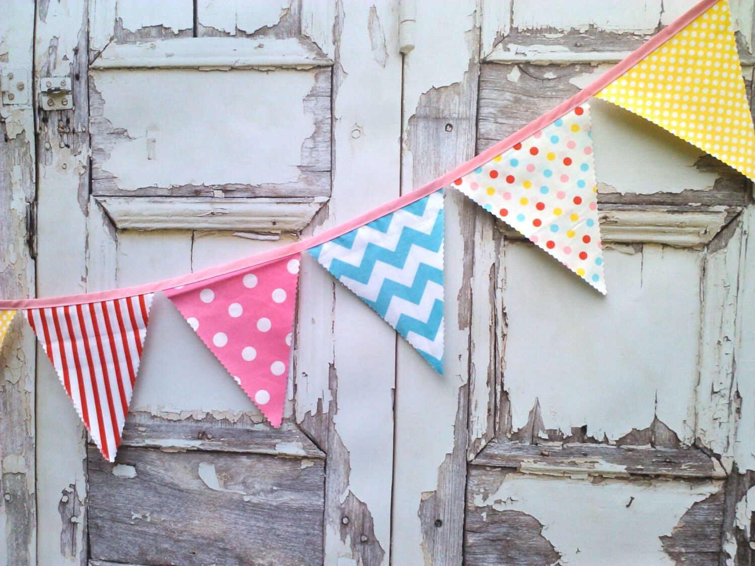 Fabric bunting flags party pennant banner buntings banner carnival