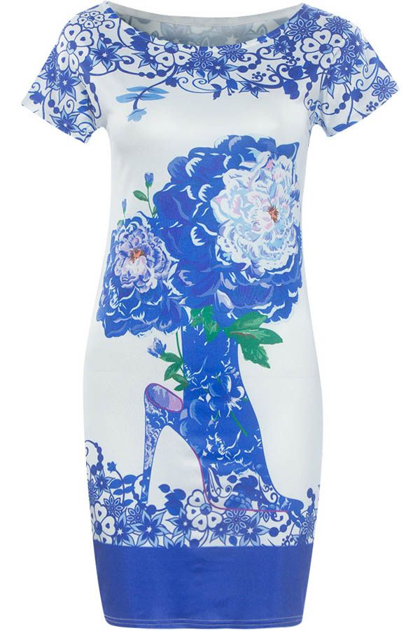 Stylish wear that is wonderful for any season because of its fashionable style. This sexy bodycon dress features round neckline, short sleeve styling, graphic print through out. Just buy it!