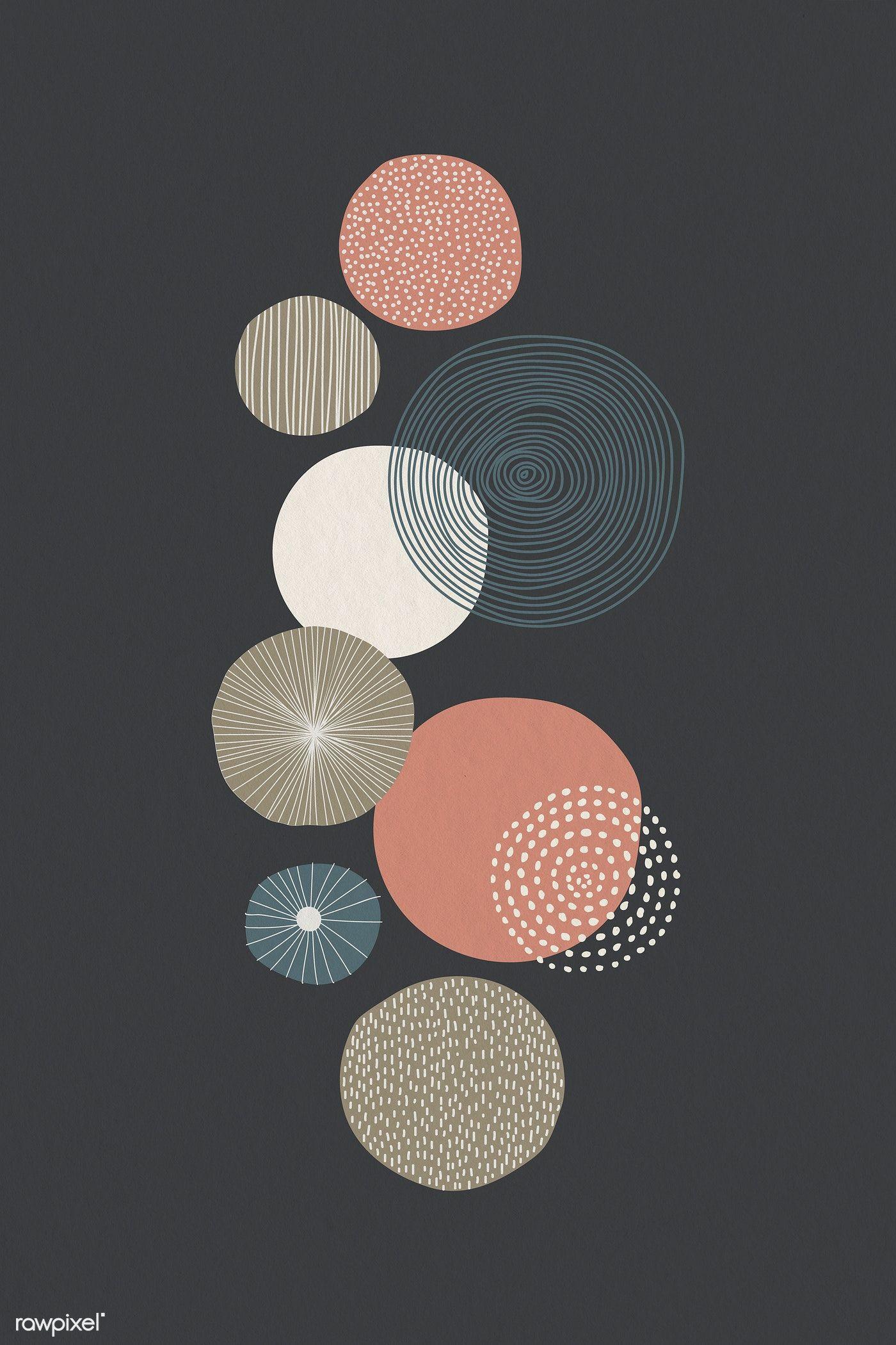 Download Premium Illustration Of Round Patterned Wall Art Illustration    Geometric Art Prints, Illustration Wall Art, Doodle Background