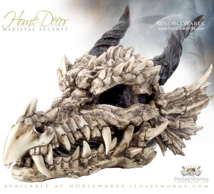 NobleWares Large Medieval Dragon Skull 9255 By Pacific Trading · Medieval  Home DecorMedieval ...