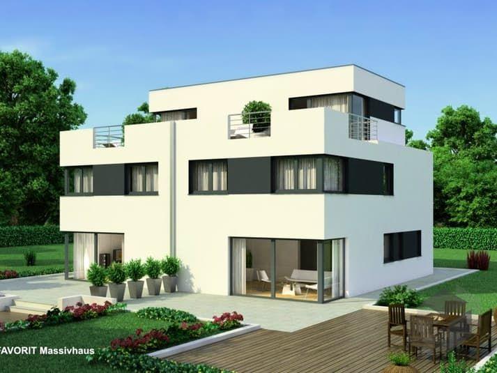 das bauhaus finesse 166 von favorit massivhaus wohnfl che 165 80 m zimmeranzahl 6 5 klick auf. Black Bedroom Furniture Sets. Home Design Ideas