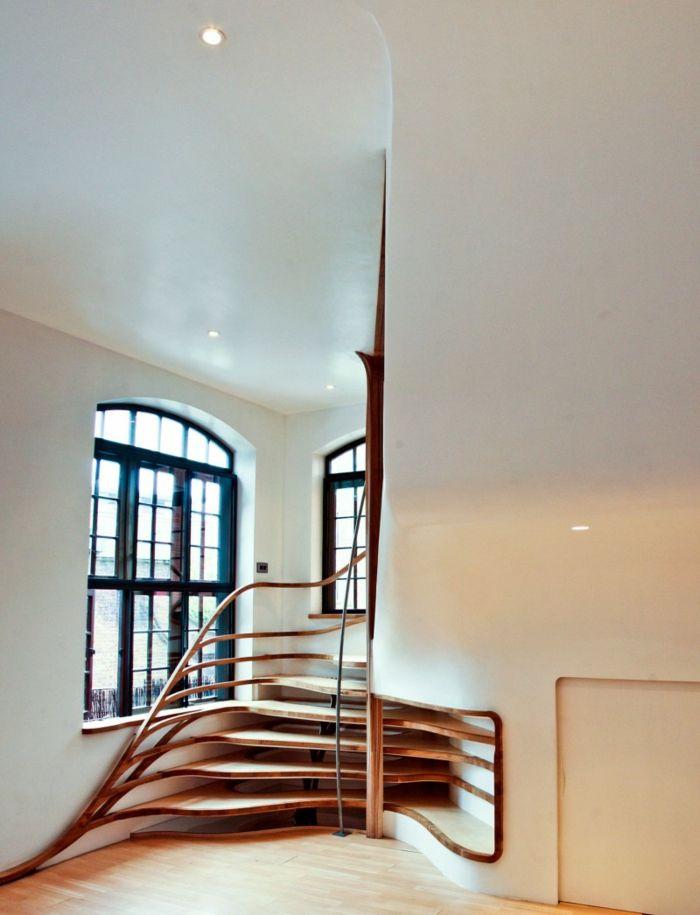 Organische Treppengestaltung Lässt Den Innenbereich Futuristisch