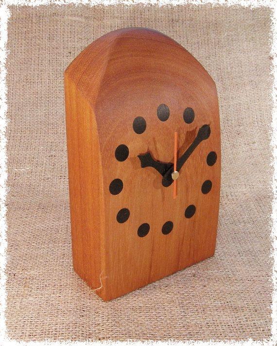 Desk of mantelpiece clock in Mahogany.