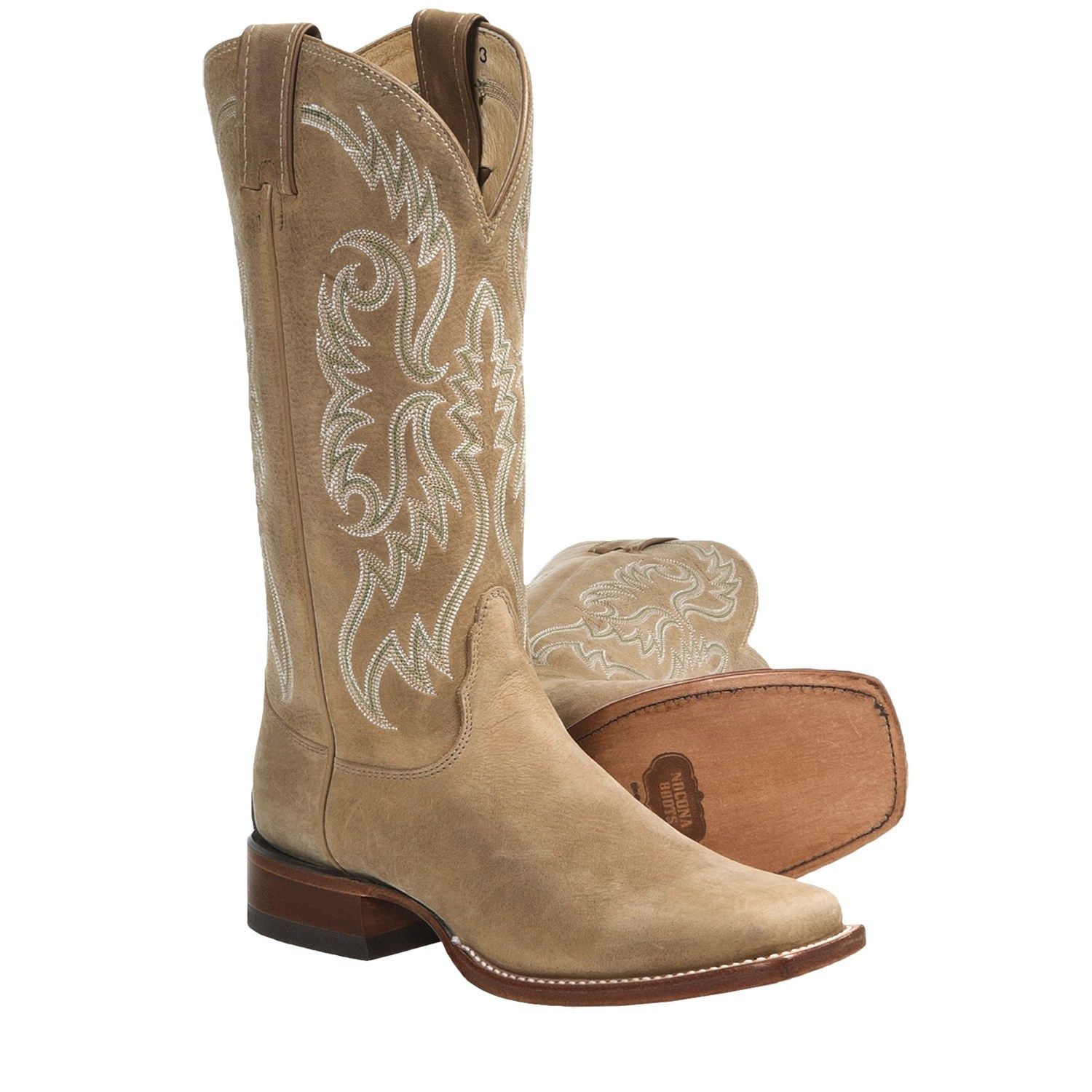Nocona Boots Square Toe Cowboy Boots - Leather, Square Toe (For ...