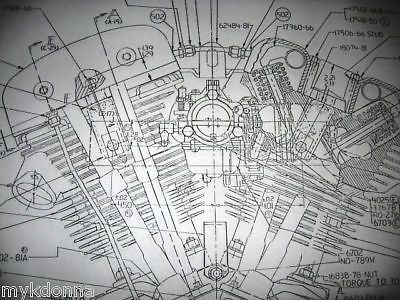 details about harley davidson shovelhead engine blueprint flh fx fxr Shovelhead Parts Diagram