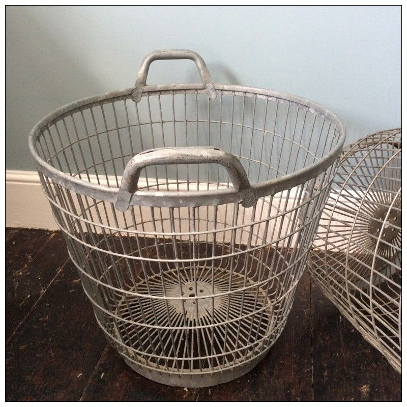 Vintage Wire Baskets Originally From France And Used To Store Potatoes,  These Are Ideal For
