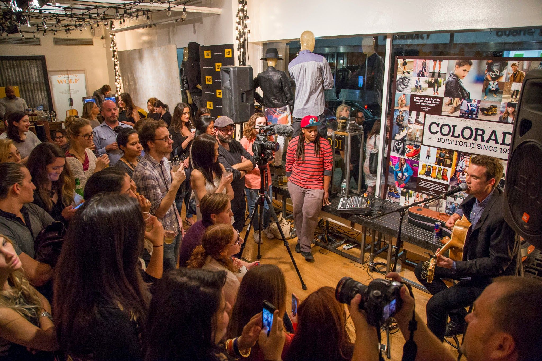 Our Earthmover Tyler Hilton Performing A Private Concert For Fans At Our Nyc Pop