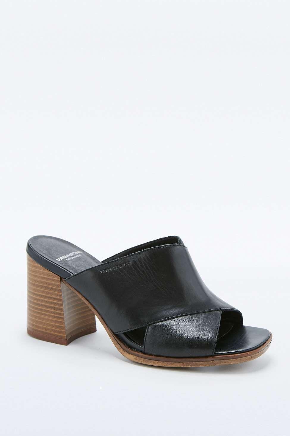 Vagabond Lea Black Heel Crossover Mules   Black heels, Gov t mule ... fd83a378f3