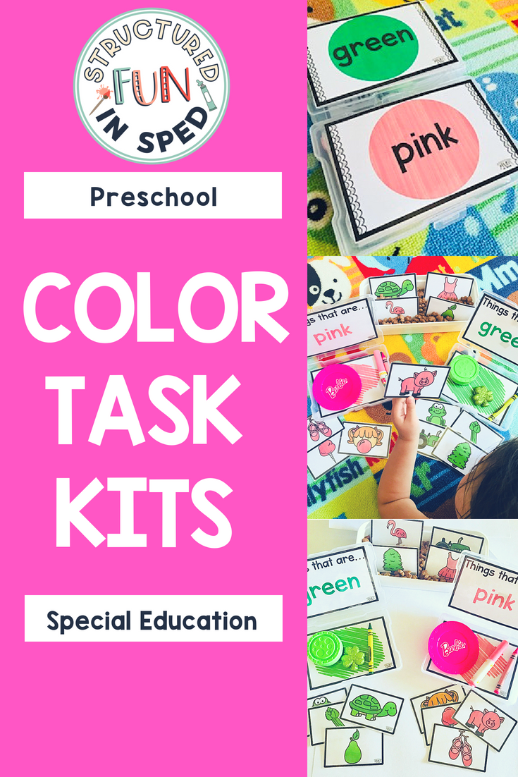 Preschool Centers Color Task Kits for Early Childhood, Pre-k, and ...