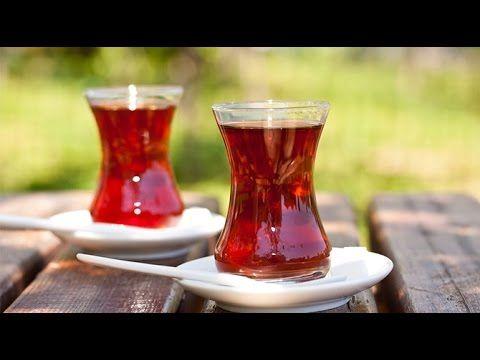 طريقة عمل الشاي التركي على اصوله خمير وفطير Youtube Glassware Hurricane Glass Tableware