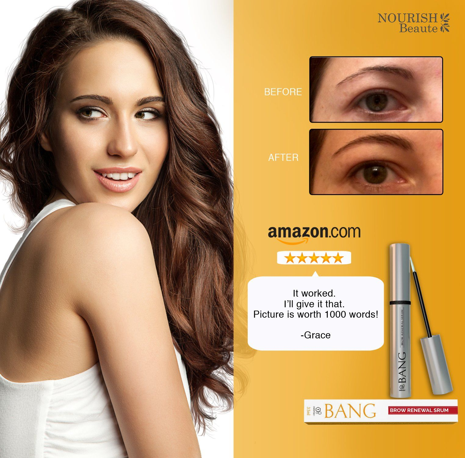 8bfb16410f5 Eyebrow Growth Serum – Get Perfect Bolder Brows w/ Organic Argan Oil  Castor Oil #MakeupForWomenIdeas